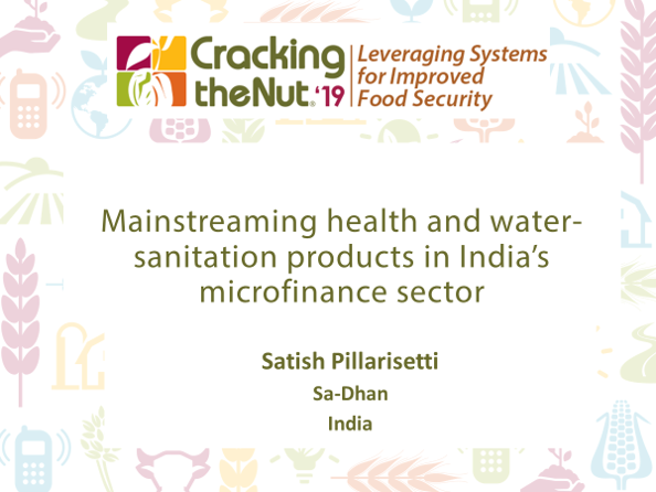 Session 2.6: Mainstreaming Health and Water-Sanitation Products in India's Microfinance Sector