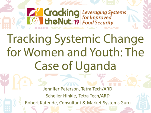 Session 3.1: Tracking Systemic Change for Women and Youth: The Case of Uganda