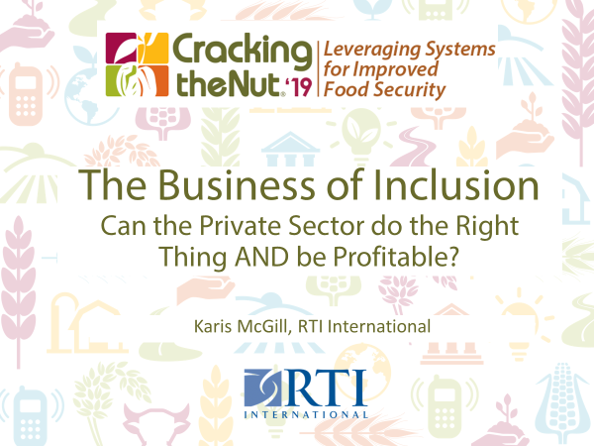 Session 3.2: The Business of Inclusion: Can the Private Sector do the Right Thing and be Profitable?