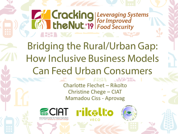 Session 3.3: Bridging the Rural/Urban Gap: How Inclusive Business Models Can Feed Urban Consumers