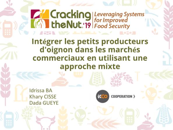 (FR) Session 3.6 : Intégrer les petits producteurs d'oignon dans les marchés commerciaux en utilisant une approche mixte