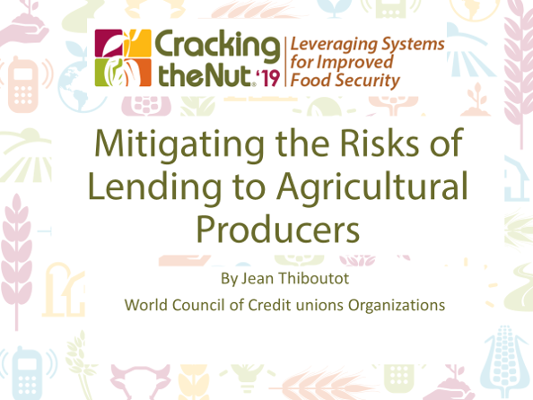 Session 1.6: Mitigating the Risk of Lending to Agricultural Producers through Adaptive Loan Methodologies